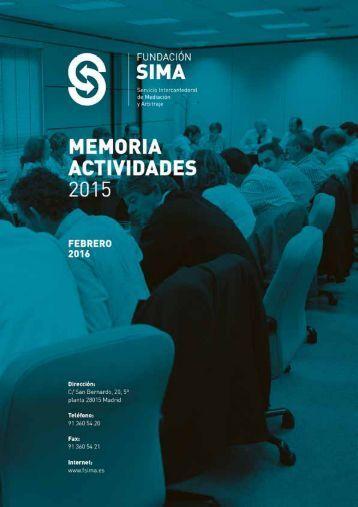 MEMORIA ACTIVIDADES 2015 0