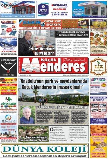 """""""Anadolu'nun park ve meydanlarında Küçük Menderes'in imzası olmalı"""""""