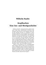 Wilhelm Raabe Stopfkuchen Eine See- und Mordgeschichte