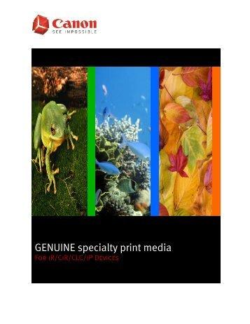 GENUINE specialty print media