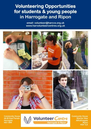 Volunteering Opportunities for students & young people in Harrogate and Ripon