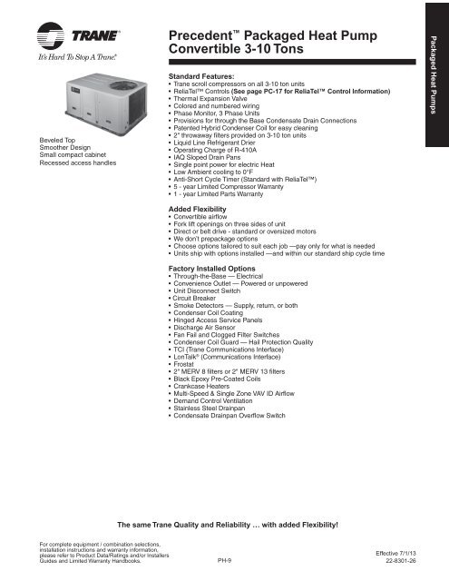 Packaged Heat Pumps 4WHC3