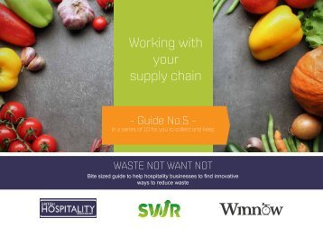 Working with your supply chain
