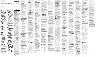 Sony MDR-NC300D - MDR-NC300D Consignes d'utilisation Tchèque
