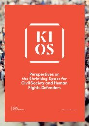 Perspectives on the Shrinking Space for Civil Society and Human Rights Defenders