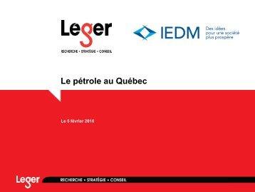Le pétrole au Québec