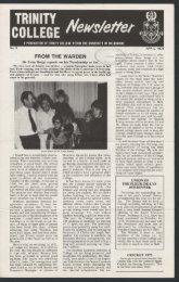 Trinity College Newsletter, vol 1 no 9, April 1975