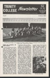 Trinity College Newsletter, vol 1 no 14, October 1980