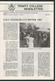 Trinity College Newsletter, vol 1 no 16, April 1982