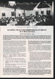 Trinity College Newsletter, vol 1 no 22, October 1983
