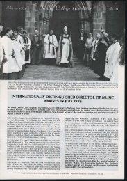 Trinity College Newsletter, vol 1 no 38, Februray 1989