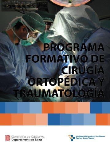 PROGRAMA FORMATIVO DE CIRUGÍA ORTOPÉDICA Y TRAUMATOLOGÍA