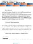 PROGRAMA FORMATIVO DE CIRUGÍA ORTOPÉDICA Y TRAUMATOLOGÍA - Page 3