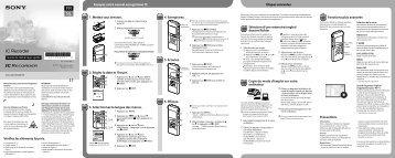 Sony ICD-UX513F - ICD-UX513F Guide de mise en route