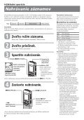 Sony ICD-B500 - ICD-B500 Consignes d'utilisation Slovaque - Page 6