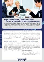 Kapital vermehren, Zukunft sichern: ICFB — Kompetenz in ...