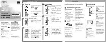 Sony ICD-UX512 - ICD-UX512 Guide de mise en route Hongrois