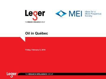 Oil in Québec