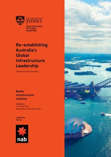 Re-establishing Australia's Global Infrastructure Leadership