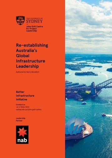 Re-establishing Australia's Global Infrastructure Leadership