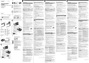 Sony M-98V - M-98V Consignes d'utilisation Finlandais
