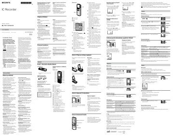 Sony ICD-BX800 - ICD-BX800 Consignes d'utilisation Tchèque