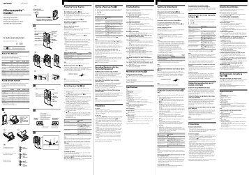 Sony M-530V - M-530V Consignes d'utilisation Portugais