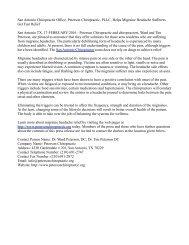 San Antonio Chiropractic Office, Peterson Chiropractic, PLLC, Helps Migraine Headache Sufferers Get Fast Relief
