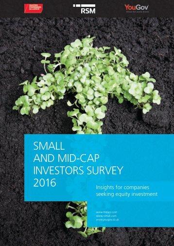 SMALL AND MID-CAP INVESTORS SURVEY 2016