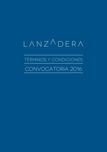 Convocatoria 2016