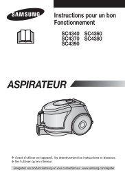 Samsung Aspirateur Sans Sac 2000 W 1,3 L Bleu SC4380 (VCC4380V3K/XEF ) - Manuel de l'utilisateur (Windows 7) 3.89 MB, pdf, Français