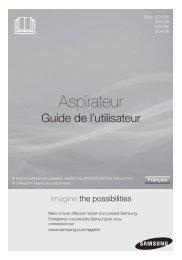 Samsung Aspirateur Sans Sac 2000 W 2 L Rouge SC4790 (VCC4790H3R/XEF ) - Manuel de l'utilisateur 4.01 MB, pdf, Français
