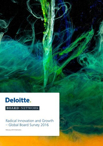 Radical Innovation and Growth – Global Board Survey 2016