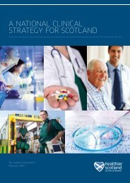 A NATIONAL CLINICAL STRATEGY FOR SCOTLAND