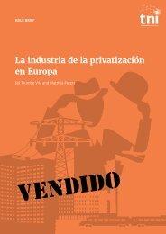 La industria de la privatización en Europa