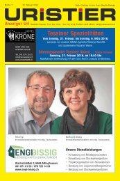 07.2016 Uristier  Der Urner Gratisanzeiger