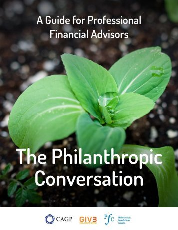 The Philanthropic Conversation