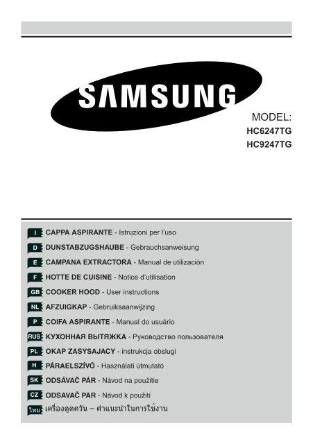 Samsung Hotte 90 Cm 703 M3 H 3 Vitesses Hc9247tg Hc9247tg Xef