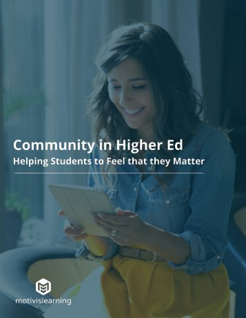 Community in Higher Ed