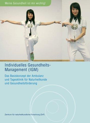Individuelles Gesundheits- Management (IGM) - TUM