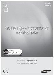 Samsung Sèche-linge à condensation, 7kg - DV70H4300CW (DV70H4300CW/EF ) - Manuel de l'utilisateur(User Manual) 2.95 MB, pdf, Français