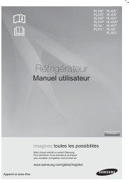 Samsung Réfrigérateur Combi A300 L silver RL40WGPS (RL40WGPS1/XEG ) - Manuel de l'utilisateur 3.5 MB, pdf, Français