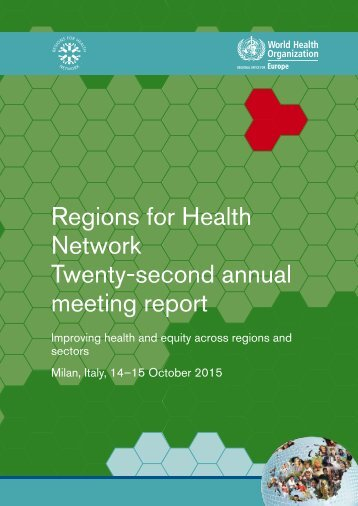 Regions for Health Network Twenty-second annual meeting report