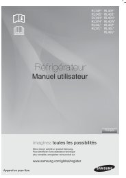 Samsung Réfrigérateur Combi A+ 308 L Blanc RL40HGSW (RL40HGSW1/XEG ) - Manuel de l'utilisateur 3.5 MB, pdf, Français