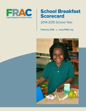 School Breakfast Scorecard
