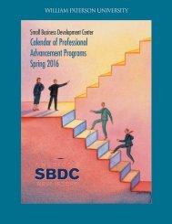 Calendar of Professional Advancement Programs Spring 2016