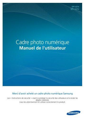Samsung SPF-87H (LP08IPLEBT/EN ) - Manuel de l'utilisateur(Model code type : LP**IPLE*) 10.56 MB, pdf, Français