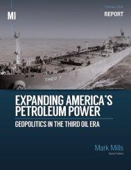 EXPANDING AMERICA'S PETROLEUM POWER