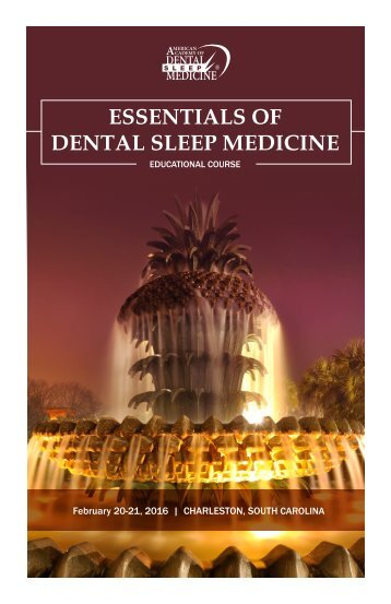 ESSENTIALS OF DENTAL SLEEP MEDICINE
