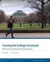 Scoring the College Scorecard